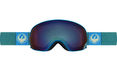Dragon - X2s Hone Blue / Lumalens Flash Blue + Lumalens Flash Green Goggles