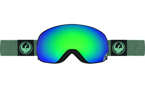 Dragon - X2s Hone Emerald / Lumalens Flash Green + Lumalens Flash Blue Goggles