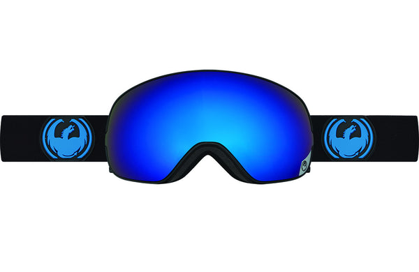 Dragon - X2s Jet / Dark Smoke Blue + Yellow Red Ion Goggles