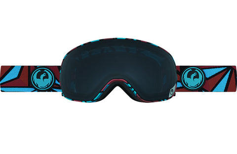 Dragon - X2s Structure / Dark Smoke + Yellow Blue Ion Goggles