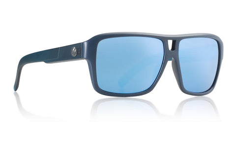 Dragon - The Jam Matte Deep Navy H2O Sunglasses / Sky Blue Ion + Performance Polarized Lenses