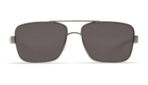 Costa - North Turn Gunmetal + Matte Black Sunglasses / Gray Polarized Plastic Lenses