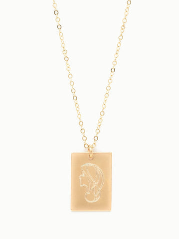 ABLE - She's Worth More Portrait Tag Worth Necklace