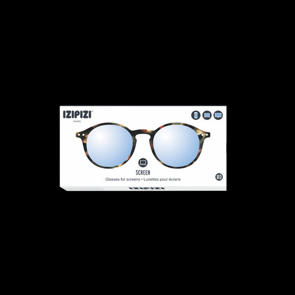 Izipizi - #D Tortoise Eyeglasses / Screen Blue Light Clear Lenses