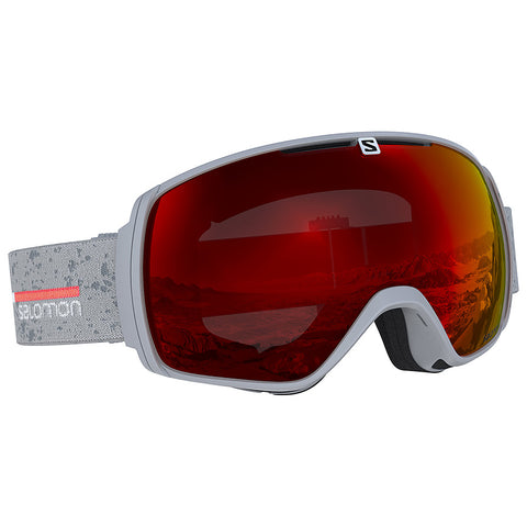 Salomon - XT One Grey Matte Snow Goggles / Universal Mid Red Lenses