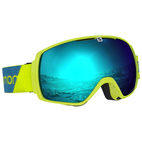 Salomon - XT One Neon Yellow Snow Goggles / Solar Blue Lenses