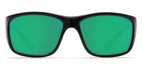Costa - Tasman Sea Shiny Black  Sunglasses / Green Polarized Plastic Lenses