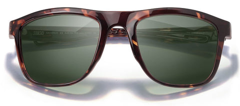 Sunski - Navarro Tortoise Sunglasses / Forest Polarized Lenses