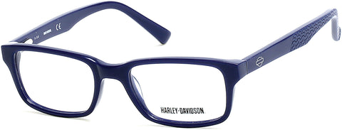 Harley-Davidson - HD0122T Matte Blue Eyeglasses / Demo Lenses