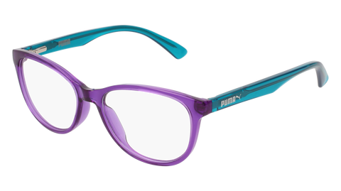 Puma - PJ0018O Junior Violet + Light Blue Eyeglasses / Demo Lenses