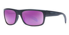 Native - Ashdown Matte Black Sunglasses / Violet Reflex Lenses