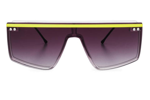 Spitfire - Hacienda Clear & Neon Yellow Sunglasses / Black Gradient Lenses