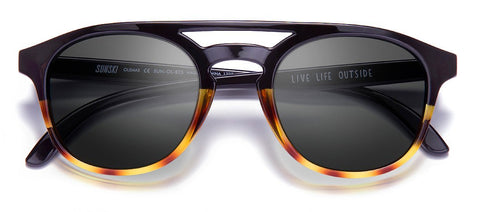 Sunski - Olemas Black Tortoise Sunglasses / Slate Polarized Lenses