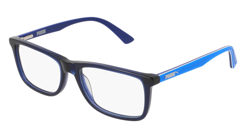 Puma - PJ0020O Junior Blue + Light Blue Eyeglasses / Demo Lenses