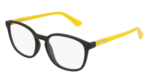 Puma - PJ0017O Junior Black + Yellow Eyeglasses / Demo Lenses