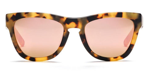 Westward Leaning - Pioneer 24 Matte Sand Tortoise Acetate Sunglasses / Rose Gold Mirror Lenses