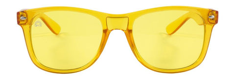 RainbowOPTX - Translucent Transparent Sunglasses / Yellow Lenses
