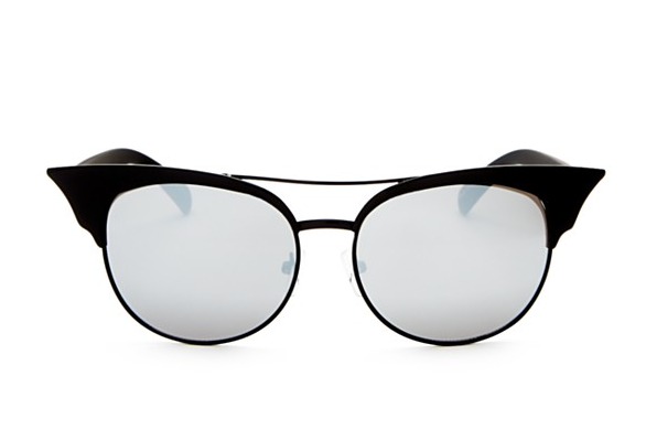 Quay Zig Black / Silver Sunglasses