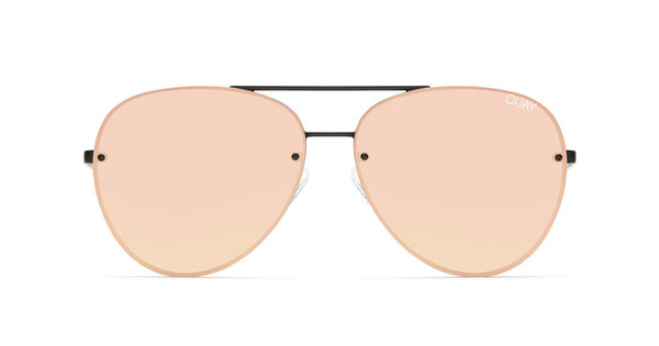 978e7ec5104 Quay Cool Innit Black Sunglasses   Pink Mirror Lenses – New York Glass