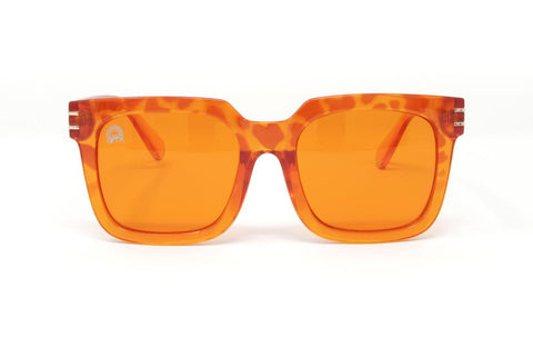 RainbowOPTX - Unit Leopard Sunglasses / Orange Lenses
