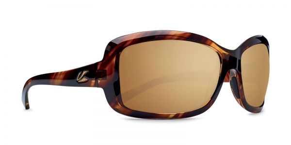 Kaenon - Lunada Striped Tortoise Sunglasses / B12 Brown Gold Mirror Lenses