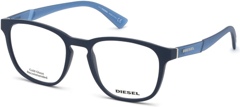 Diesel - DL5334 Matte Blue Eyeglasses / Demo Lenses