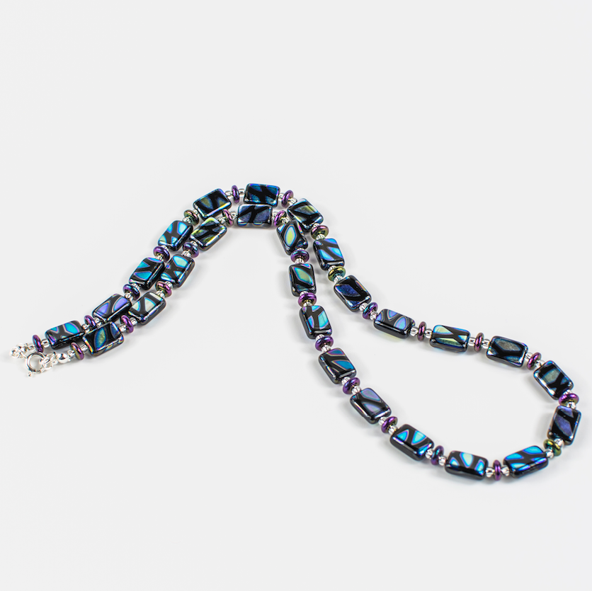 Black multi lozenge necklace