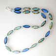 Aqua/blue torpedo necklace