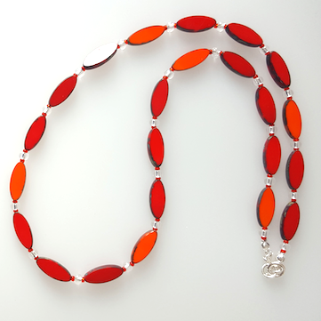 Red/orange torpedo necklace
