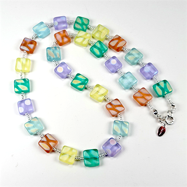 Frosted pastels, necklace
