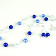 Mixed blue Murano necklace