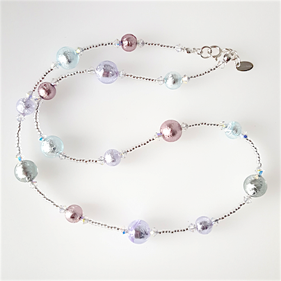 Pastel shades Murano necklace