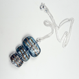 Blue lamp-work pendant