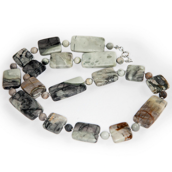 Picasso Jasper blocks necklace