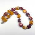 Mookite square bead necklace