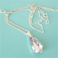 Crystal ice tear drop pendant