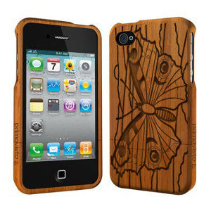 Butterfly - Coque Bois iPhone 4/4s