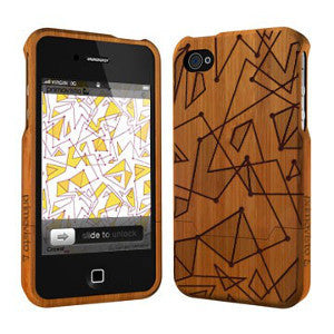 Crowd - Coque Bois iPhone 4/4s