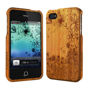 Flowers - Coque Bois iPhone 5 /5s