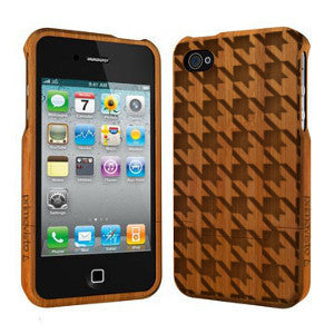 Houndstooth - Coque Bois iPhone 5 /5s