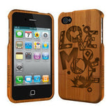 Love More - Coque Bois iPhone 4/4s