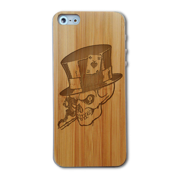 Skull - Skin iPhone 5/5s en bois