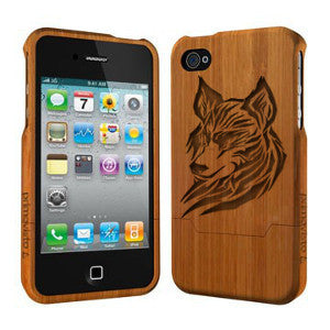 Wolf - Coque Bois iPhone 5 /5s