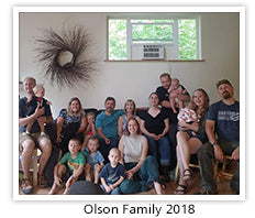 The Olson family in 2018
