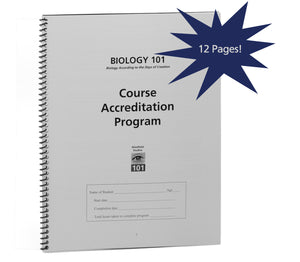 Course Accreditation Program (Biology 101)