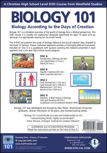 Biology 101 Back Cover