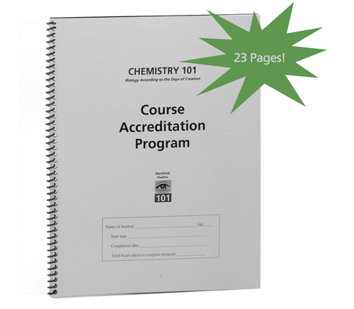 Course Accreditation Program (Chemistry 101)
