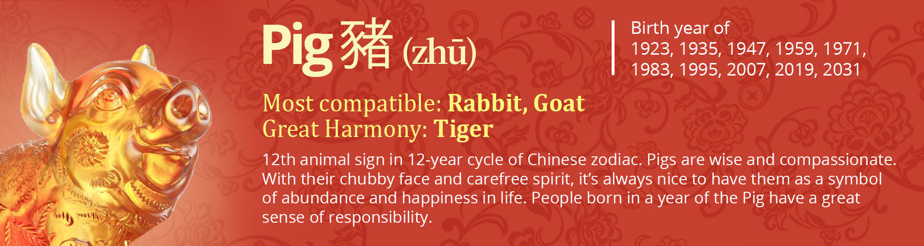 Year of the Pig | Chinese Zodiac Artwork