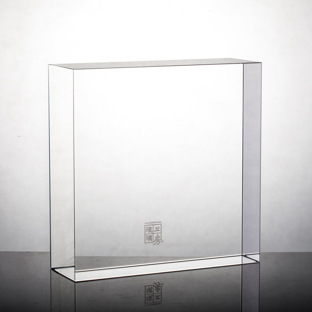 Display Base (Acrylic): 21x21x5 CM - LIULI Crystal Art