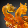 Crystal Mythical Creature, Dragon, The Yin Yang Cycle of Nine Dragons - LIULI Crystal Art